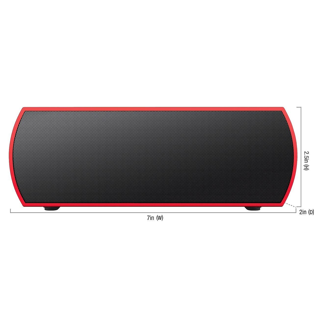 merkury urban beatz rumble bluetooth speaker black red at. Black Bedroom Furniture Sets. Home Design Ideas