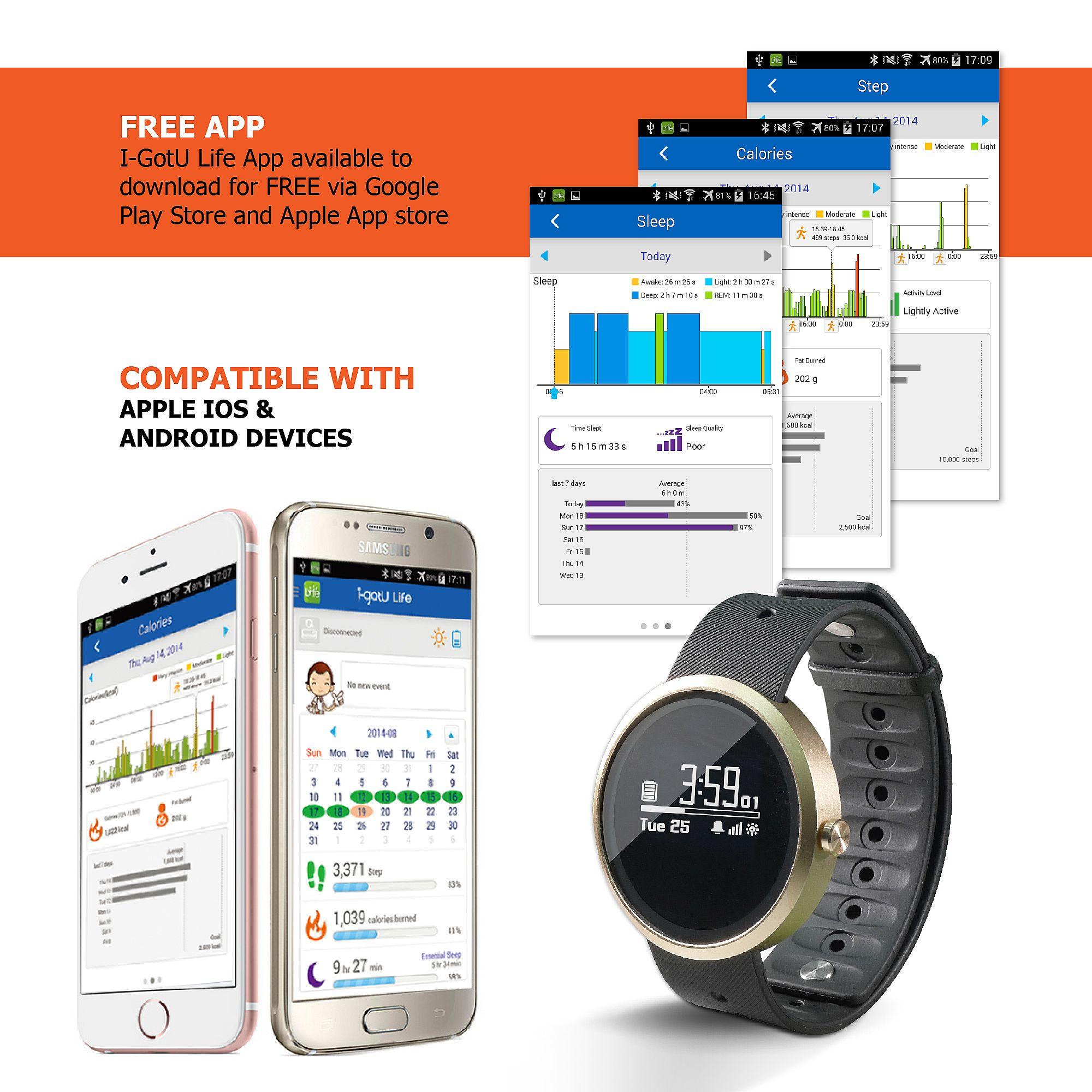 Jarv Advantage IPX7 Water Resistant Smart Watch Fitness