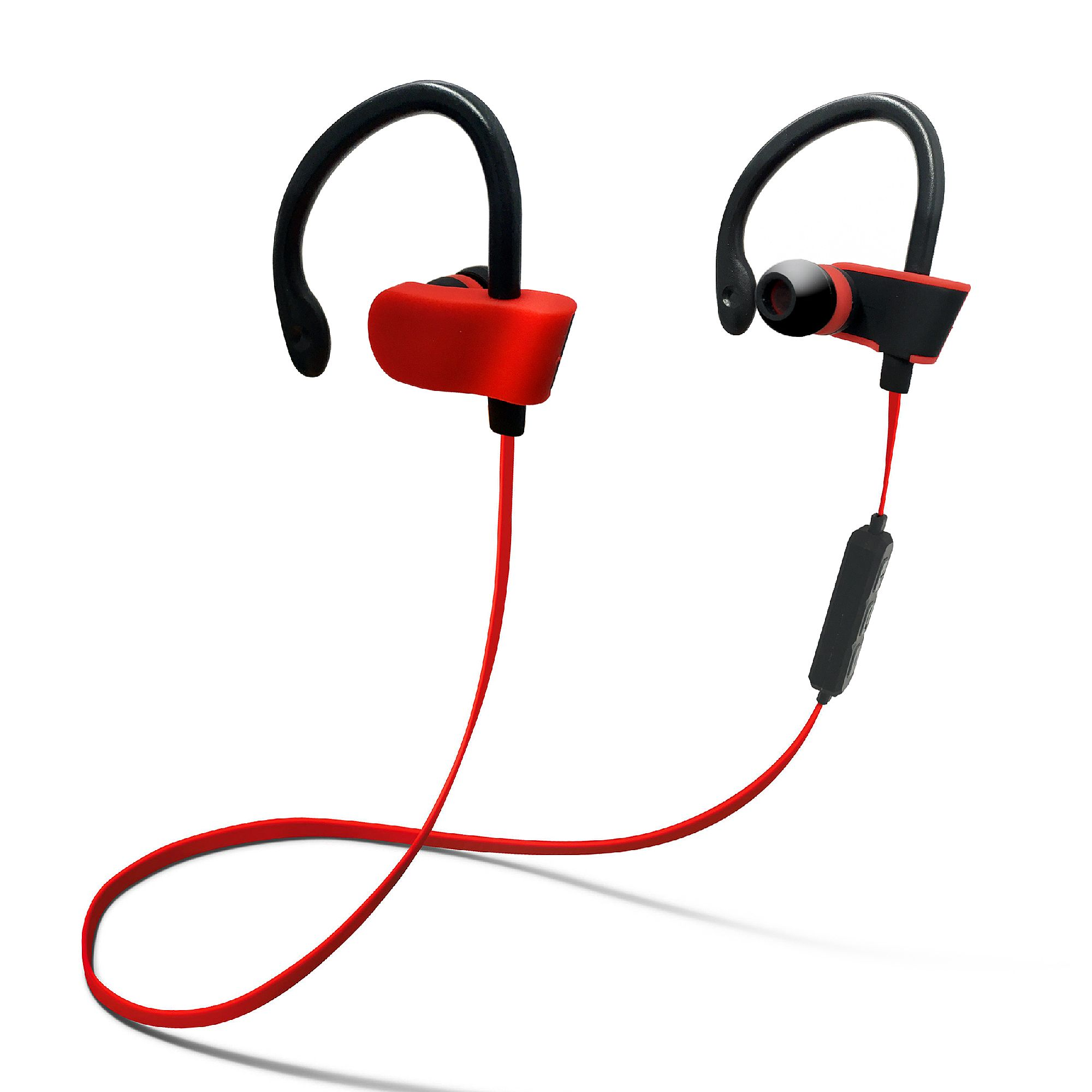 jarv bthl 52 bluetooth headphones with built in mic and volume control red at. Black Bedroom Furniture Sets. Home Design Ideas