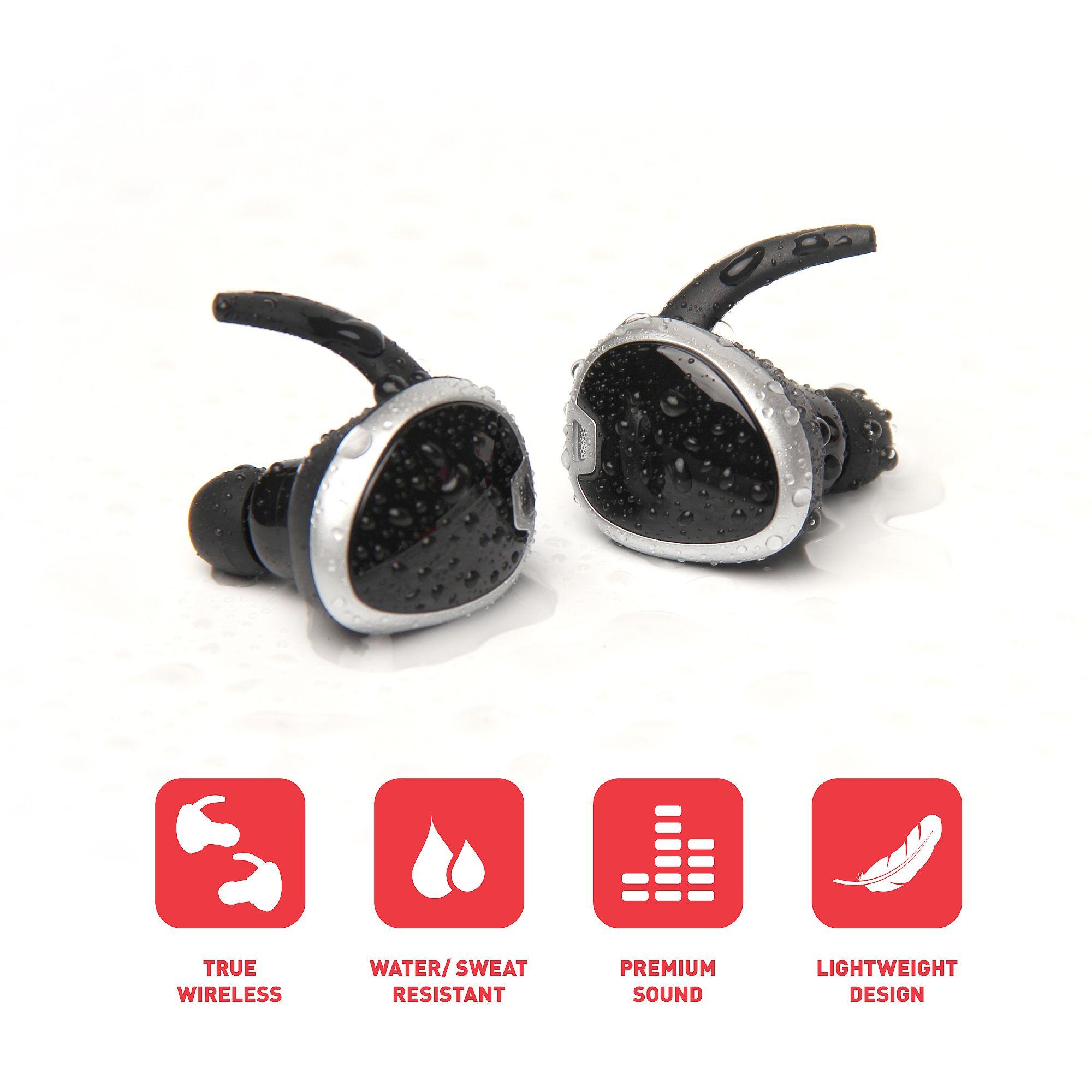 revjams studio tws true wireless bluetooth sport stereo earbuds rose gold at. Black Bedroom Furniture Sets. Home Design Ideas