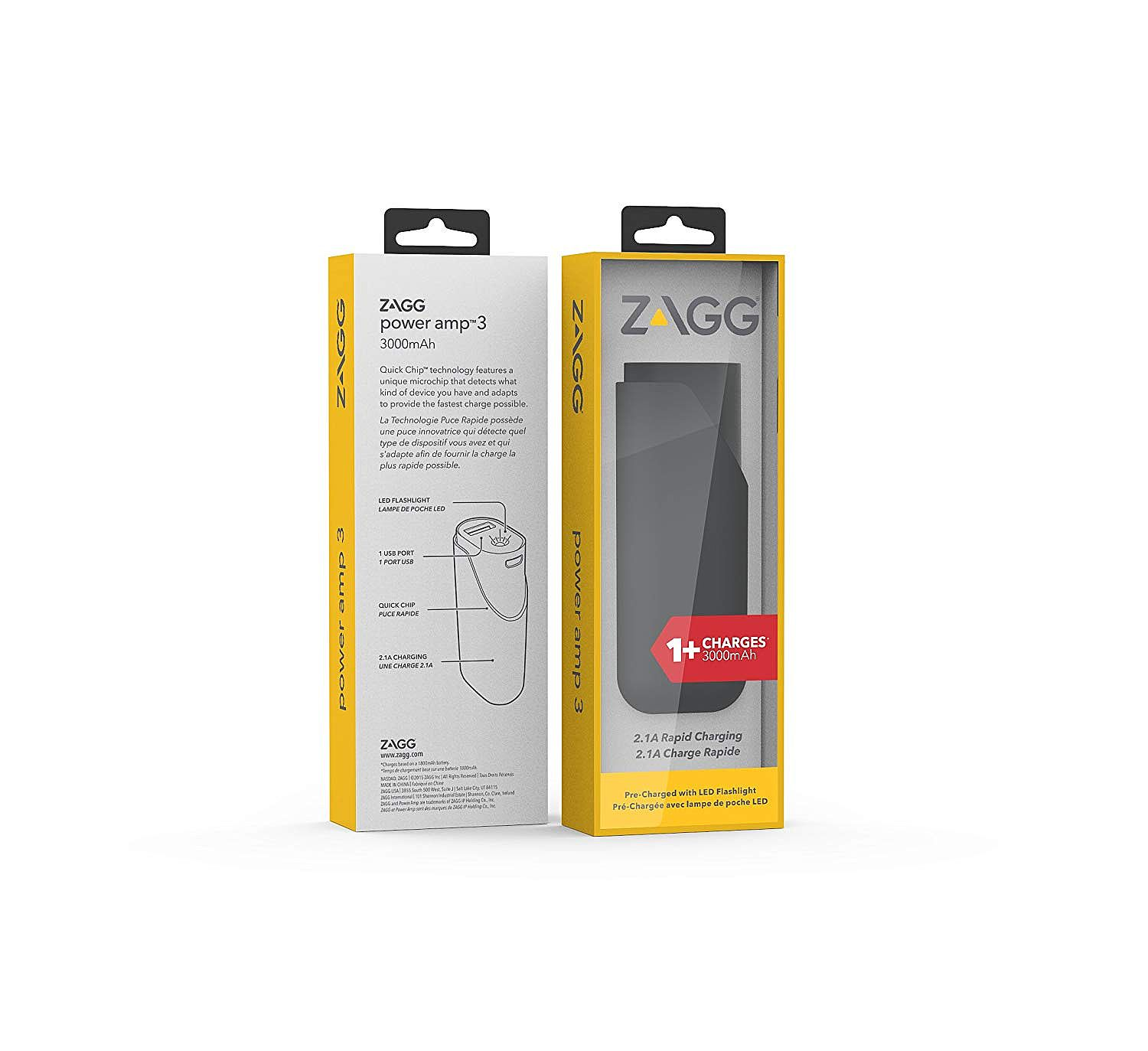 ZAGG Power Amp 3 Universal Battery Charger for Smartphones