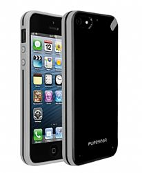 PureGear Slim Shell Case for iPhone 5 (Black Tea)