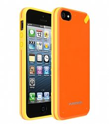 PureGear Slim Shell Case for iPhone 5 (Mandarin Orange)