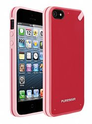 PureGear Slim Shell Case for iPhone 5 (Strawberry Rhubarb)