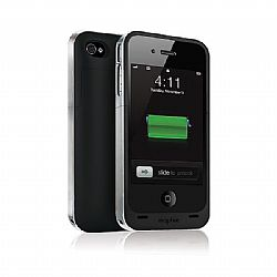 mophie Juice Pack Air Rechargeable External Battery Case (Black) for iPhone 4/4S (1,500 mAh)