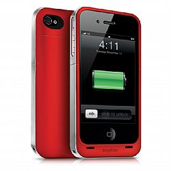 mophie Juice Pack Air Rechargeable External Battery Case (Product Red) for iPhone 4/4S (1,500 mAh)