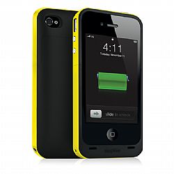 Mophie Juice Pack Plus Rechargeable External Battery Case (Yellow) for iPhone 4/4S (2,000 mAh)