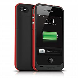 Mophie juice Pack Plus Rechargeable External Battery Case (Product Red) for iPhone 4/4S (2,000 mAh)