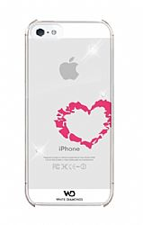 White Diamonds Lipstick Mirror Case for Apple iPhone 5 - Heart