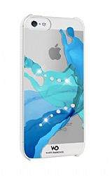 White Diamonds Liquids Case for Apple iPhone 5 - Blue