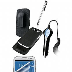 Naztech Wireless Essentials 4 in 1 Bundle Kit for Samsung Galaxy S3 III