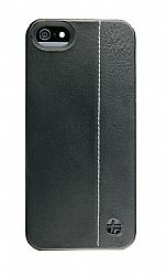 Trexta Duo Leather Snap On Case for iPhone 5 (Black/Black)