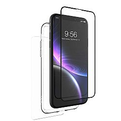 ZAGG InvisibleShield Glass+ 360 - Front + Back Screen Protection with Side Bumpers Made for Apple iPhone XR - Black