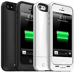 mophie Juice Pack Air Charging Case for iPhone 5 Bundle (2-Pack Black/White)