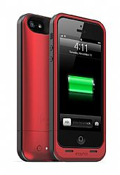mophie Juice Pack Air Charging Case for Apple iPhone 5 - Red (1700mAh)