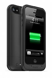 mophie Juice Pack Plus Rechargeable External Battery Case for New iPhone 5 (2100mAh) Black