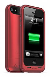mophie Juice Pack Plus Rechargeable External Battery Case for New iPhone 5 (2100mAh) Red