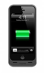 mophie Juice Pack Helium Rechargeable External Battery Case for iPhone 5 (1500mAh) Metallic black OPEN BOX