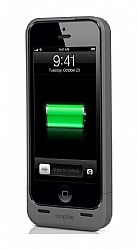 mophie Juice Pack Helium Rechargeable External Battery Case for iPhone 5 (1500mAh) Metallic black