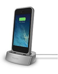 mophie Aluminum Desktop Charging Dock for Juice Pack for iPhone 5 / 5S - Silver