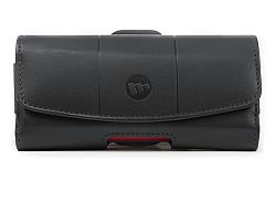 mophie Hip Holster 8000 Leather Folio Case for iPhone 5 with Juice Pack (Black)