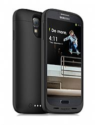 mophie Juice Pack Rechargeable External Battery Case for Samsung Galaxy S4 (2300 mAh) Black