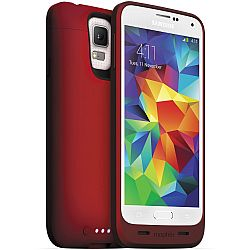 mophie Juice Pack Rechargeable Battery Case for Samsung Galaxy S5 (3000 mAh) Red