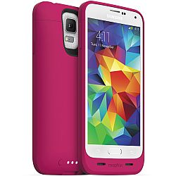 mophie Juice Pack Rechargeable Battery Case for Samsung Galaxy S5 (3000 mAh) Pink