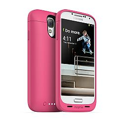 mophie Juice Pack Rechargeable External Battery Case for Samsung Galaxy S4 (2300 mAh) Pink