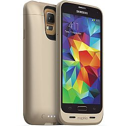 mophie Juice Pack Rechargeable Battery Case for Samsung Galaxy S5 (3000 mAh) Gold