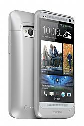 mophie Juice Pack Rechargeable External Battery Case for HTC ONE (2500mAh) Sliver