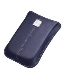 BlackBerry Leather Pocket Pouch (Dark Blue)