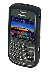 Blackberry Rubberized Skin Case for Blackberry 9630 Tour / 9650 Bold  (Black)