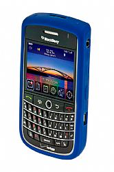Blackberry Rubberized Skin Case for Blackberry 9630 Tour / 9650 Bold ( Dark Blue)