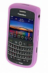 Blackberry Rubberized Skin Case for Blackberry 9630 Tour  / 9650 Bold (Pink)