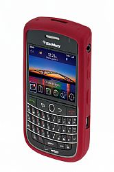 Blackberry Rubberized Skin Case for Blackberry 9630 Tour  / 9650 Bold (Dark Red)