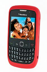 Blackberry Rubberized Skin Case for Blackberry 8520 / 8530 (Butterfly Coral)