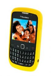 Blackberry Rubberized Skin Case for Blackberry 8520 / 8530 / 9300  (Yellow)