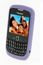 Blackberry Rubberized Skin Case for Blackberry 8520 / 8530 / 9300  (Lavender)