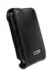 Krusell 75459 Orbit Flex Multidapt Leather Case for Blackberry Storm 2 (black/grey)