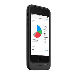 mophie Space Pack Rechargeable Battery Case with 16GB of built-in memory for iPhone 5S/5 (1700 mAh) Black
