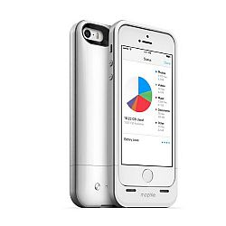 mophie Space Pack Rechargeable Battery Case with 32GB of built-in memory for iPhone 5S/5 (1700 mAh) White