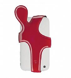 Trexta iHug Leather Holder Case for iPhone 3G / 3GS (Patent Red)