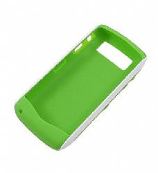 Blackberry 2 piece hardshell Case (White / Green) for Blackberry Curve 9100