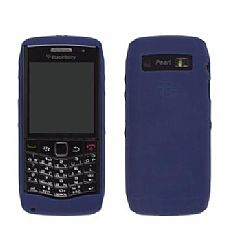 Blackberry Ruberized skin Case for Blackberry Pearl 9100 (Dark Blue)