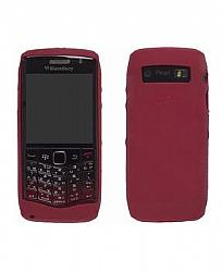 Blackberry Ruberized skin Case for Blackberry Pearl 9100 (Dark Red)