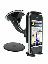 Arkon Windshield Dashboard Console Mount for iPhone 4 featuring Slim-Grip Phone Holder