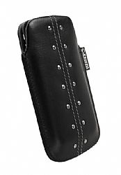 Krusell 95290 Kalix Large Mobile Leather Pouch for iPhone 4/4S and Other Mobile Phones - Black