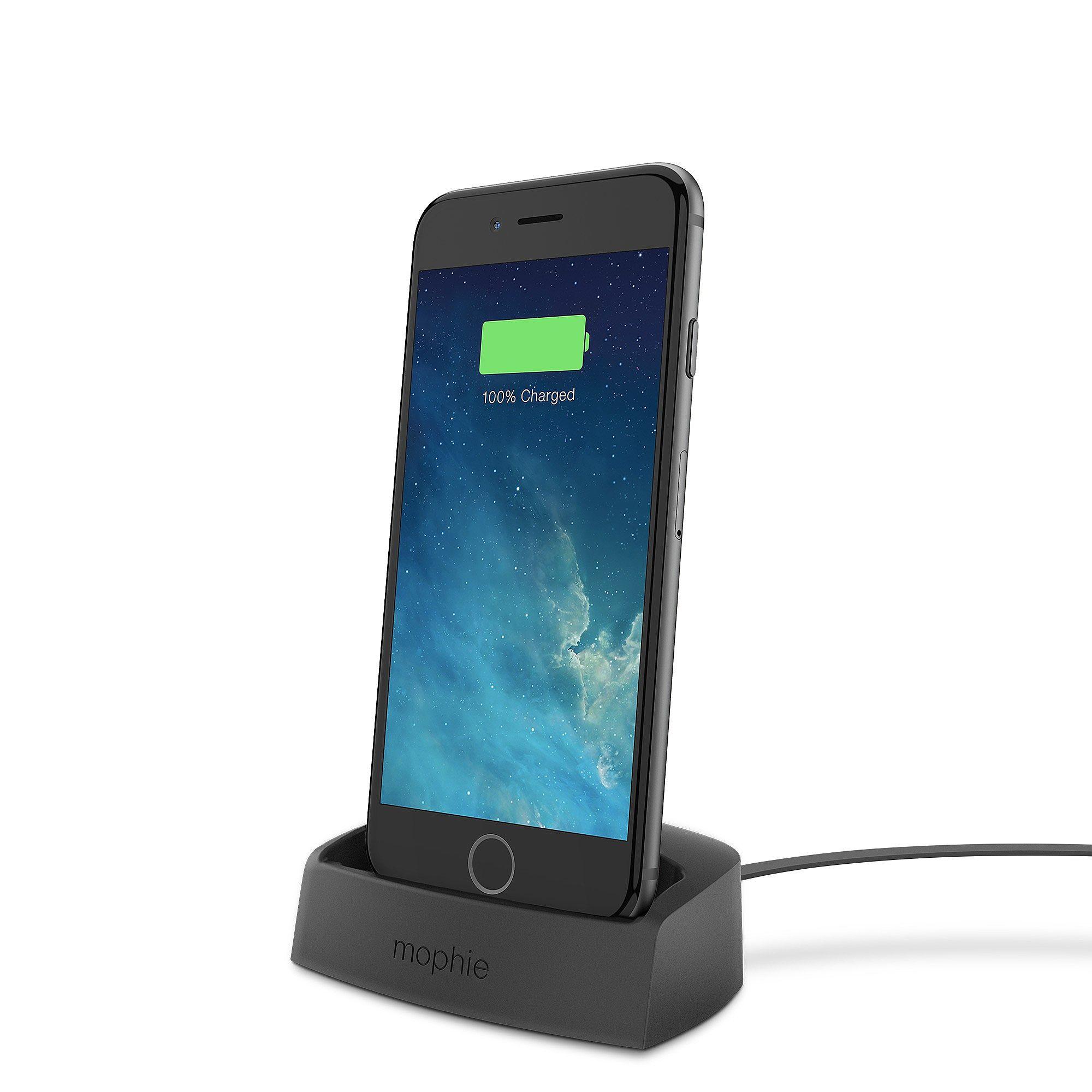 mophie lightning desktop dock for iphone 6 5s 5c 5 black at. Black Bedroom Furniture Sets. Home Design Ideas