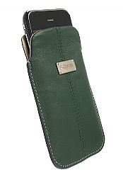 Krusell 95275 Luna XL Universal Leather Pouch (Green/Sand)